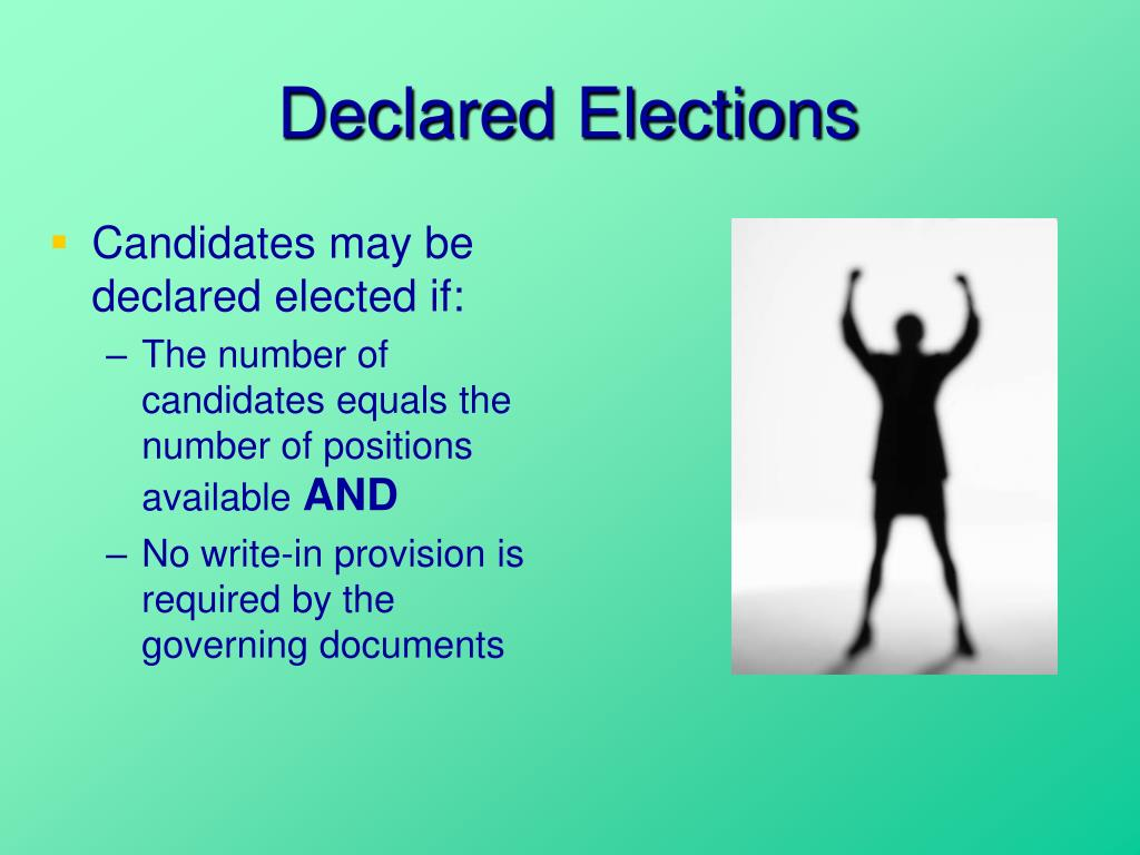 Declared Elections