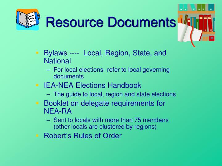 Resource documents