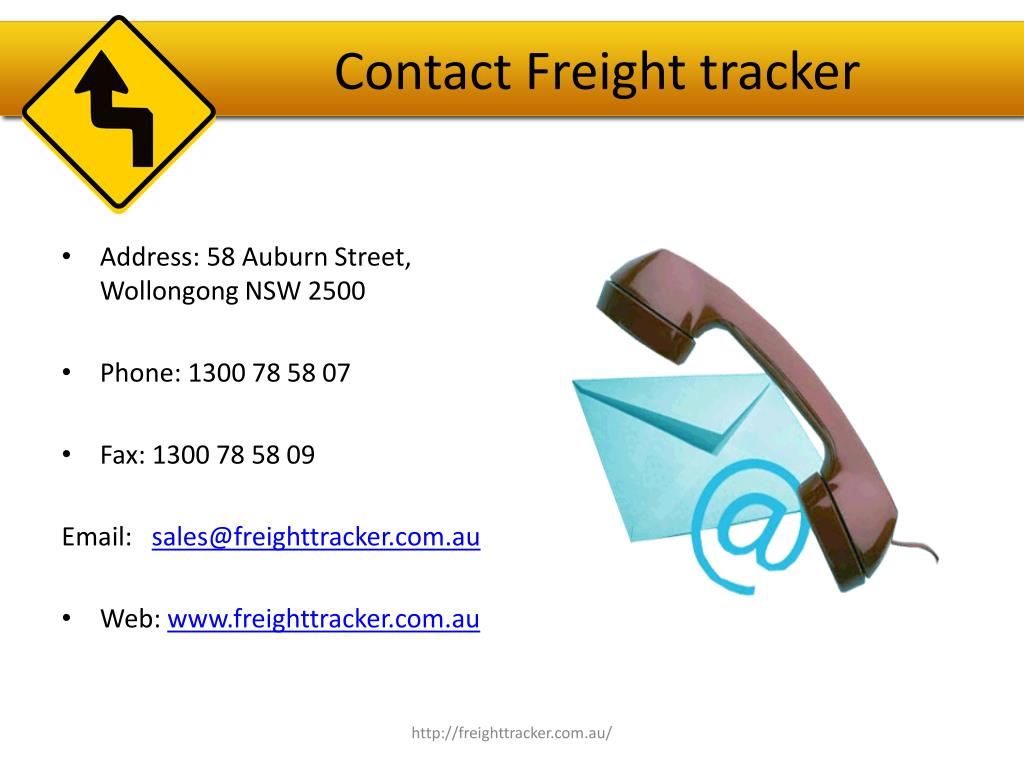 Contact Freight tracker