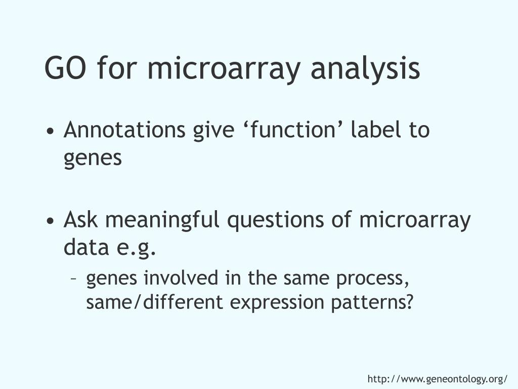 GO for microarray analysis
