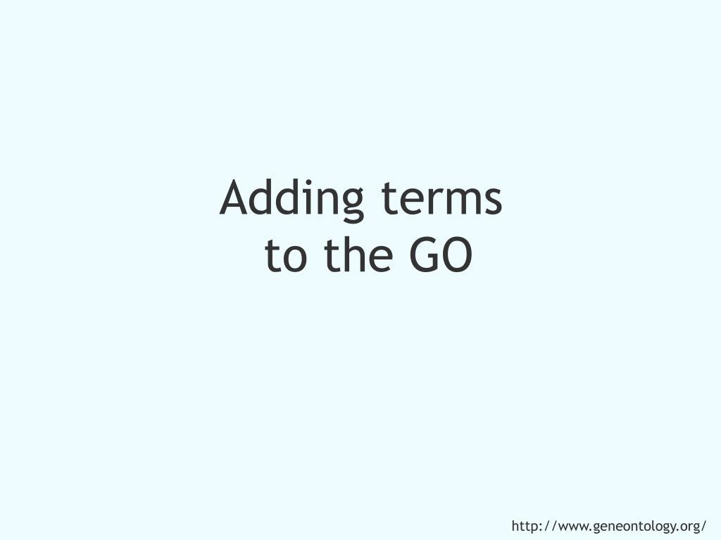 Adding terms