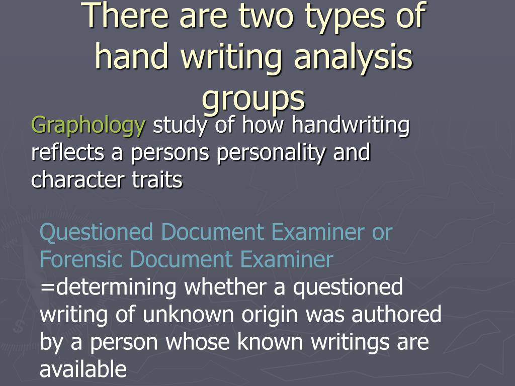 About graphology