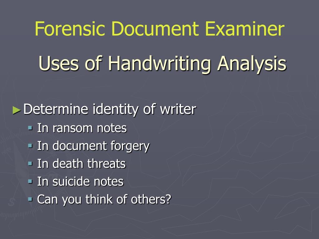 handwriting analysis personality pptx