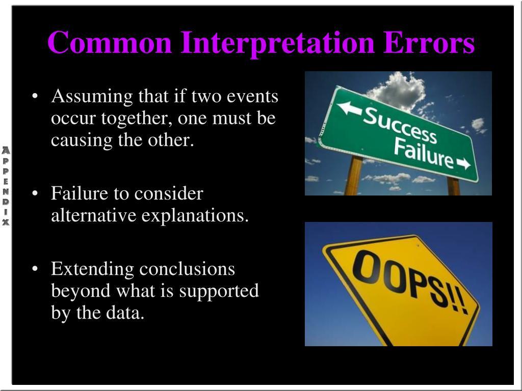 Common Interpretation Errors