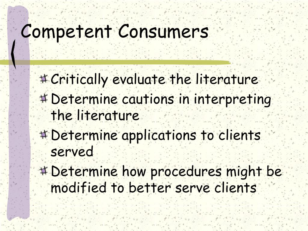 Competent Consumers