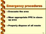 emergency procedures23