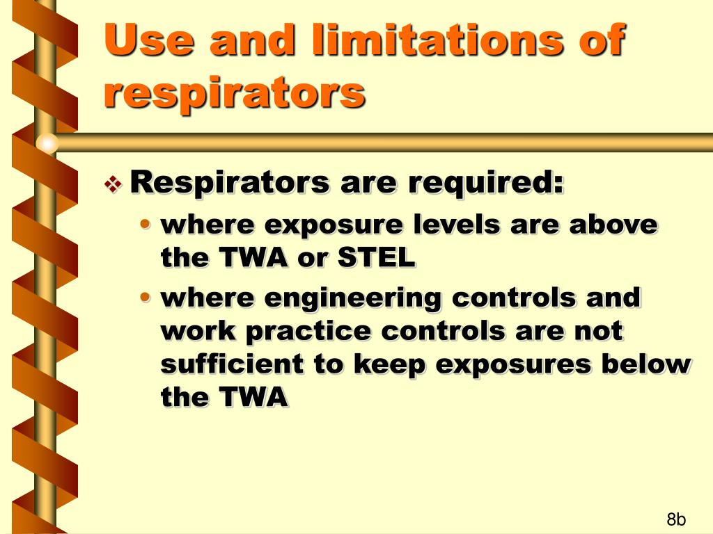 Use and limitations of respirators
