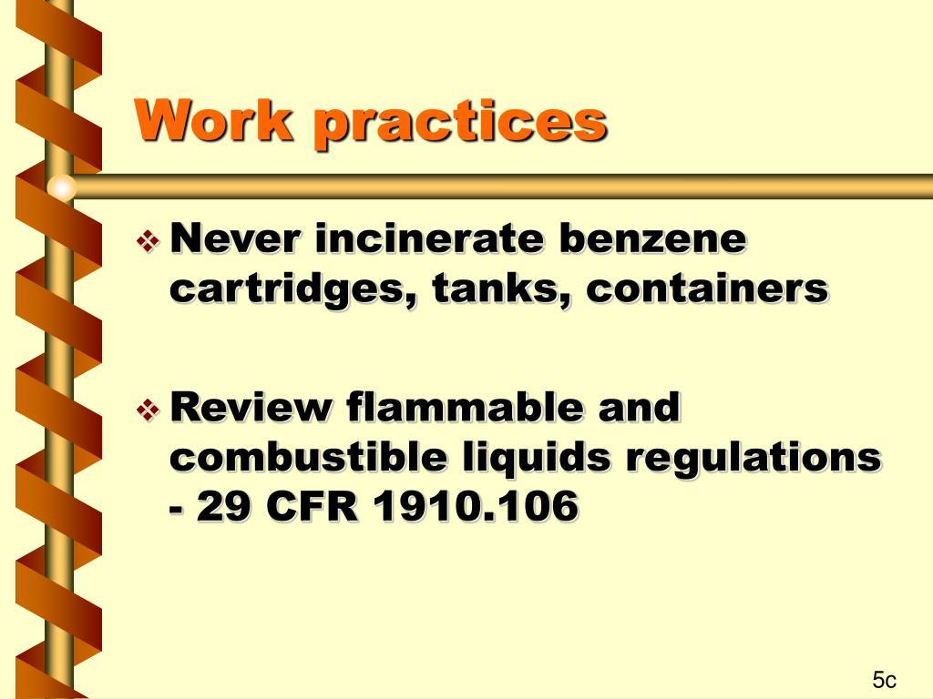 Work practices