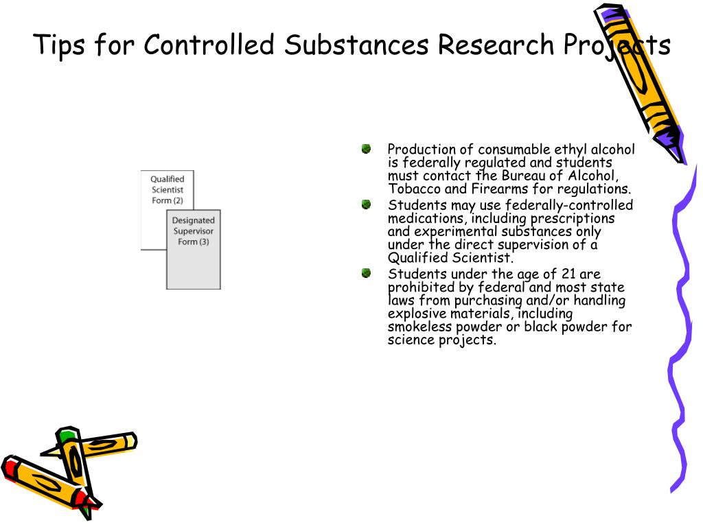 Tips for Controlled Substances Research Projects