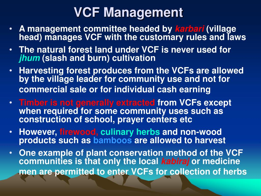 VCF Management