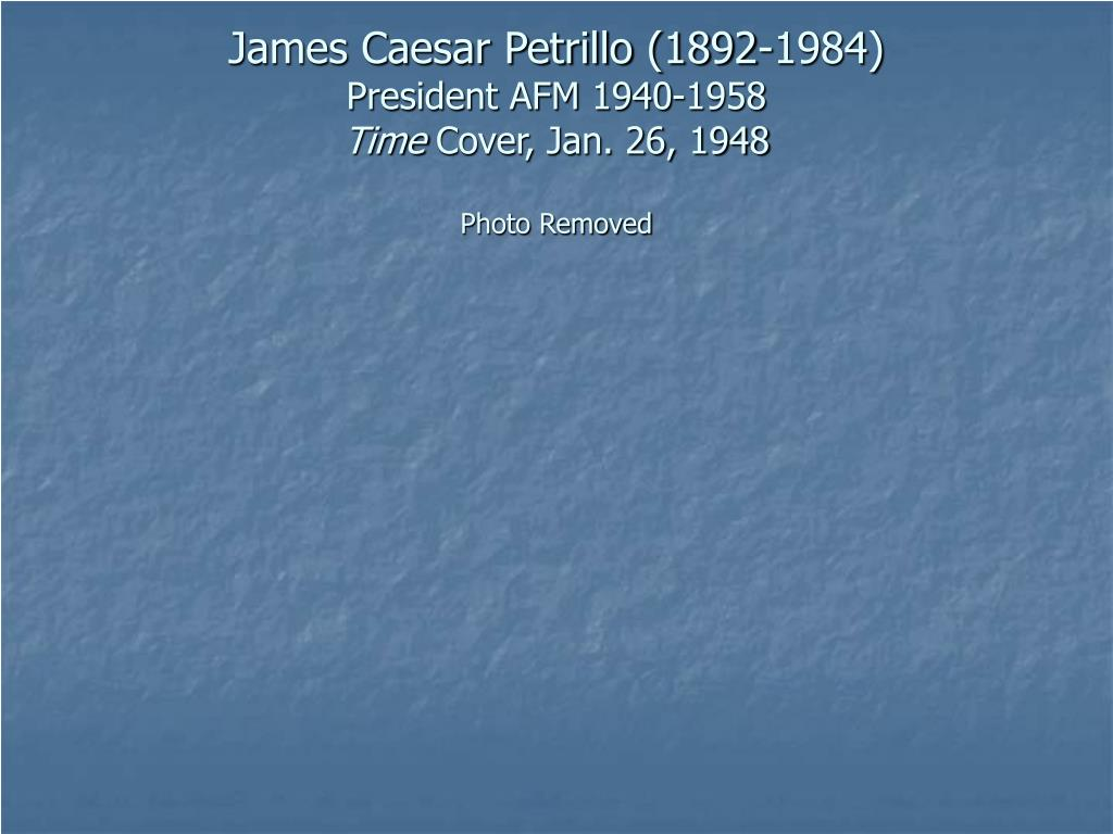 James Caesar Petrillo (1892-1984)