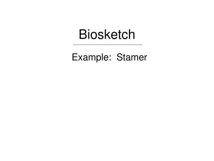 Biosketch
