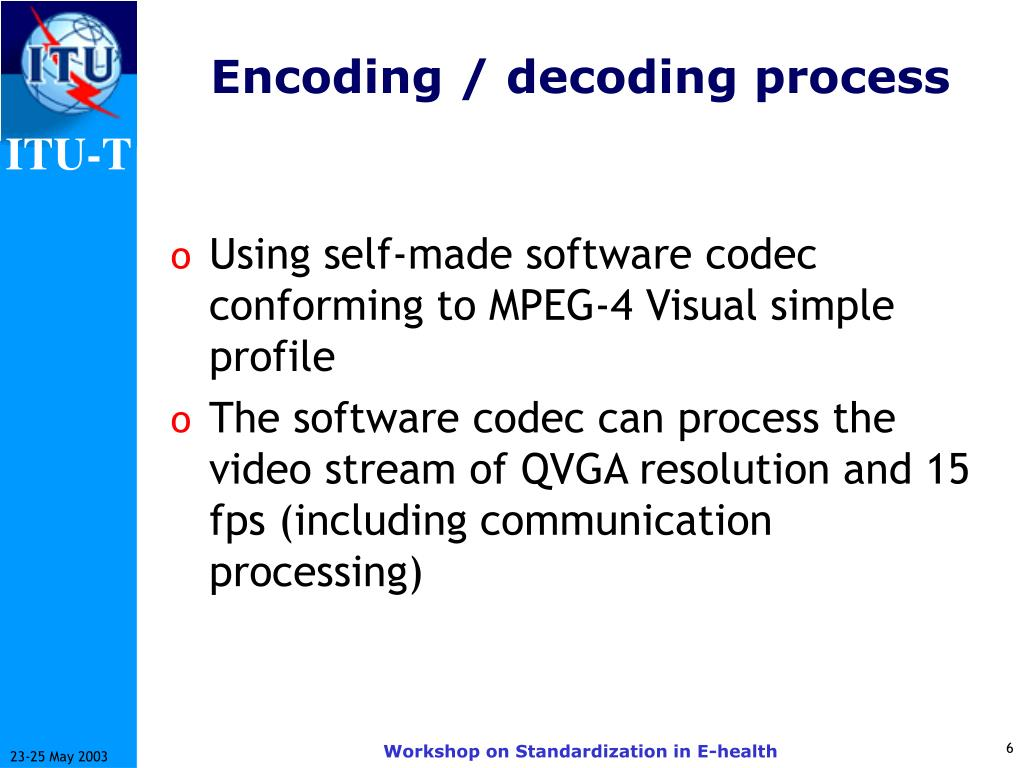 Encoding / decoding process