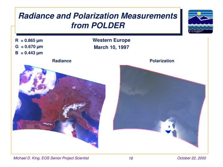 Radiance and Polarization Measurements from POLDER