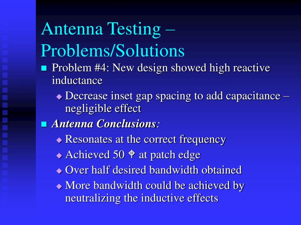 Antenna Testing – Problems/Solutions