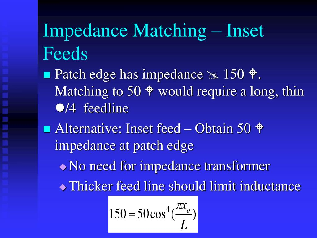 Impedance Matching – Inset Feeds