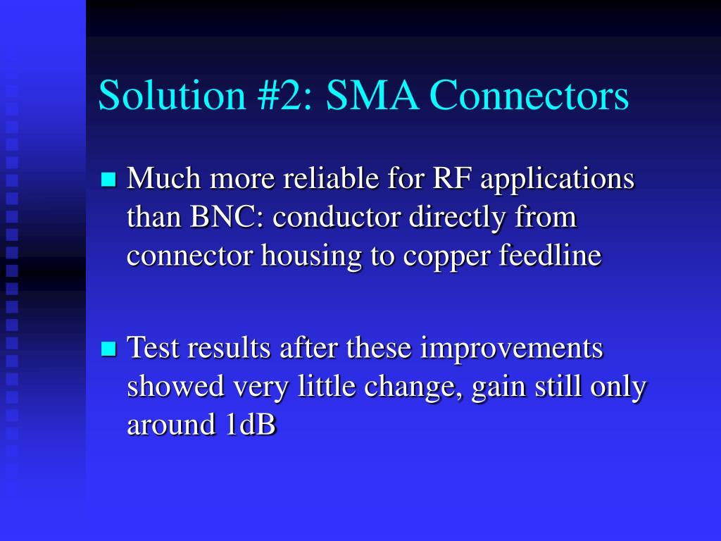 Solution #2: SMA Connectors