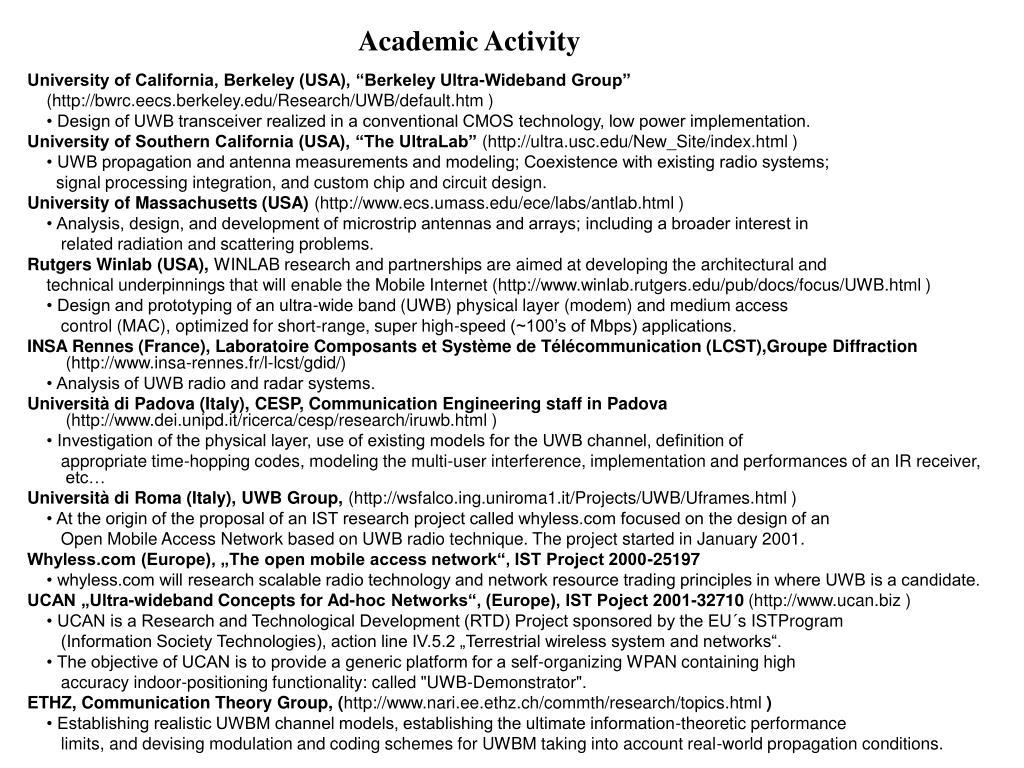 Academic Activity