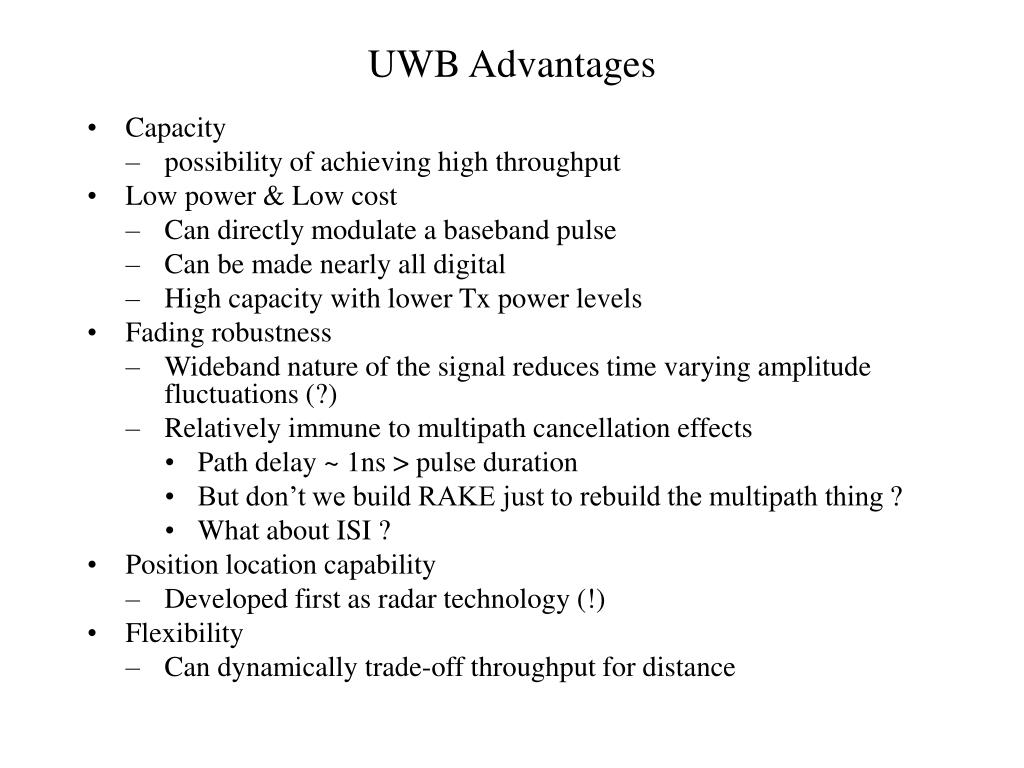 UWB Advantages