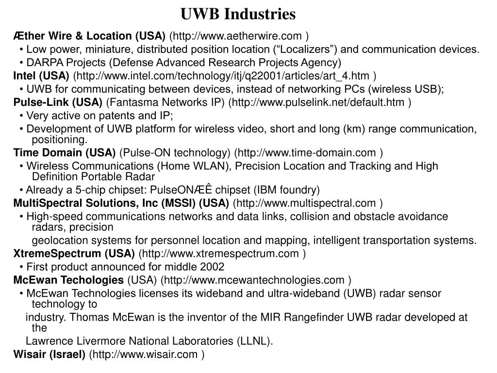 UWB Industries