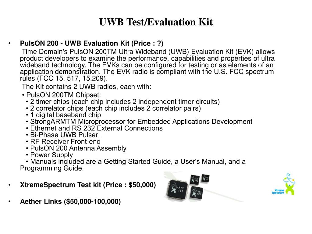 UWB Test/Evaluation Kit