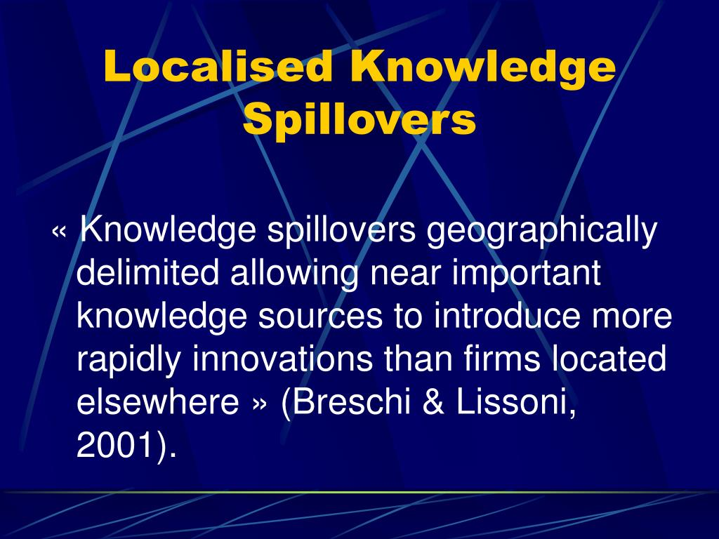 Localised Knowledge Spillovers