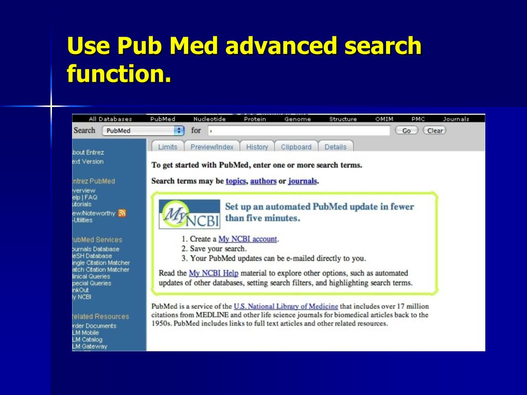 Use Pub Med advanced search function.