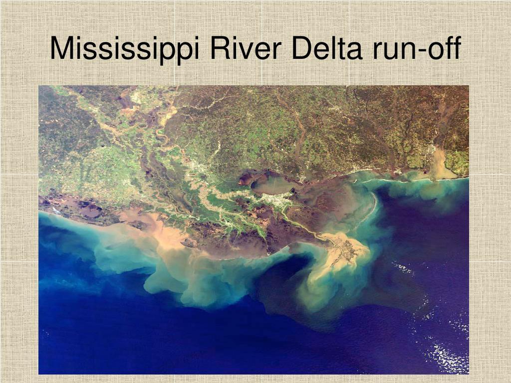 Mississippi River Delta run-off