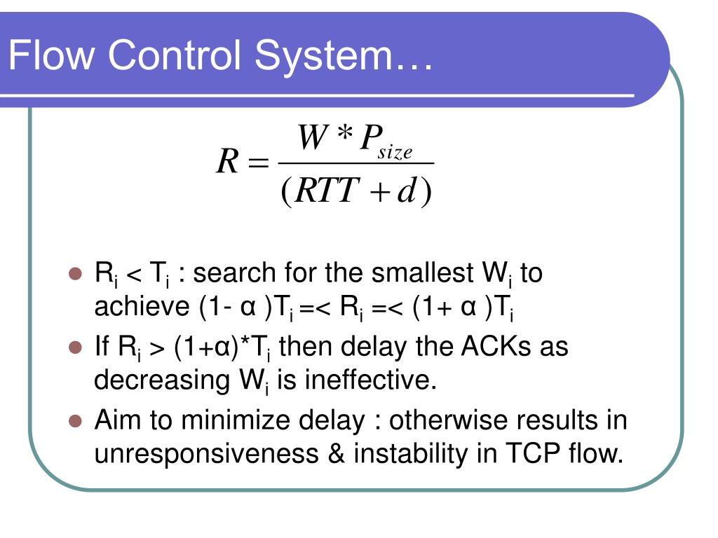 Flow Control System…