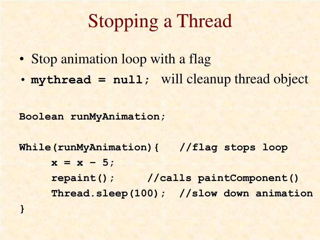 Stopping a Thread