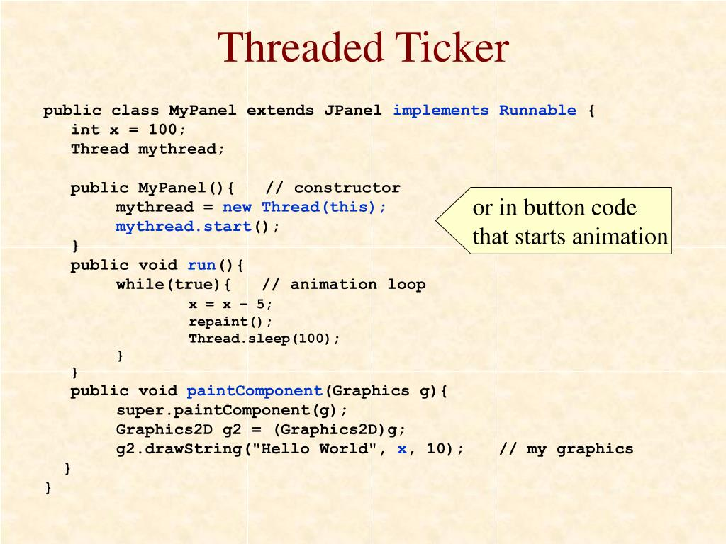 Threaded Ticker