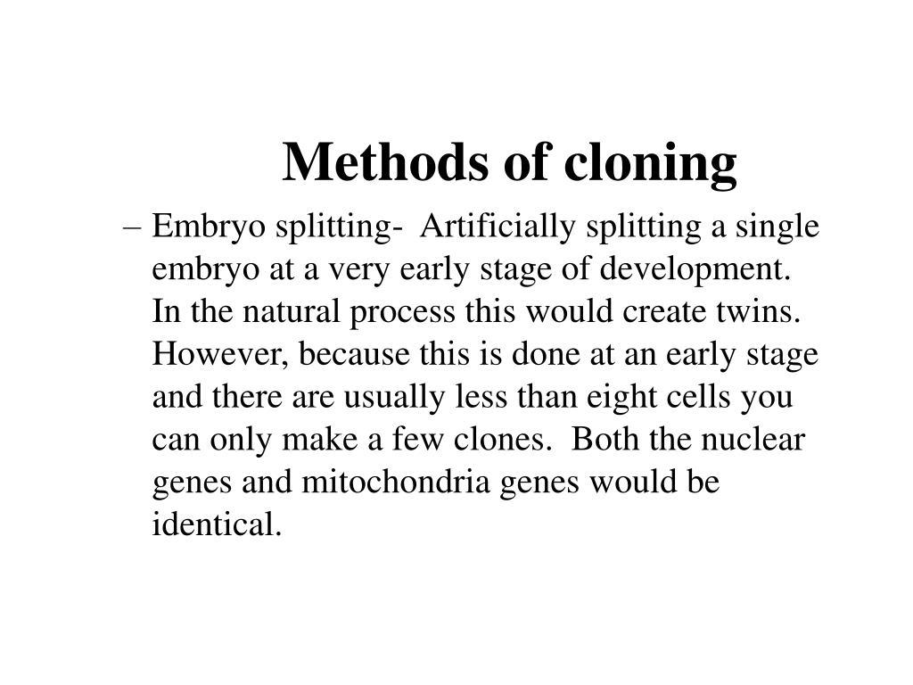 Methods of cloning