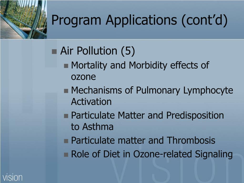 Program Applications (cont'd)
