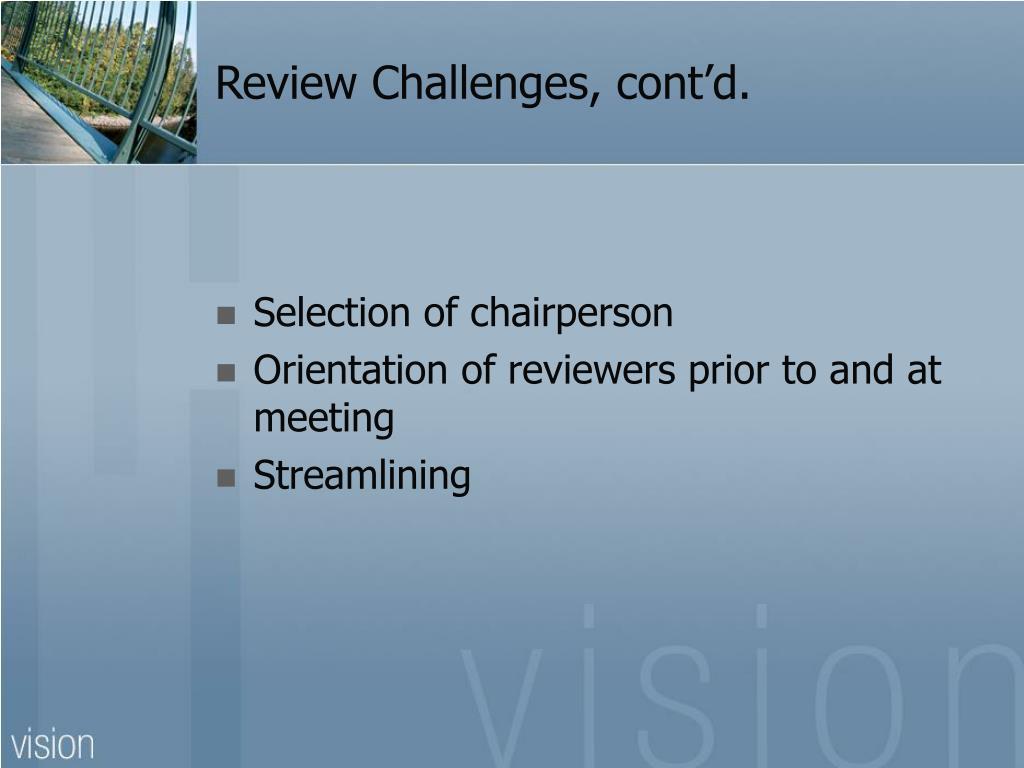 Review Challenges, cont'd.