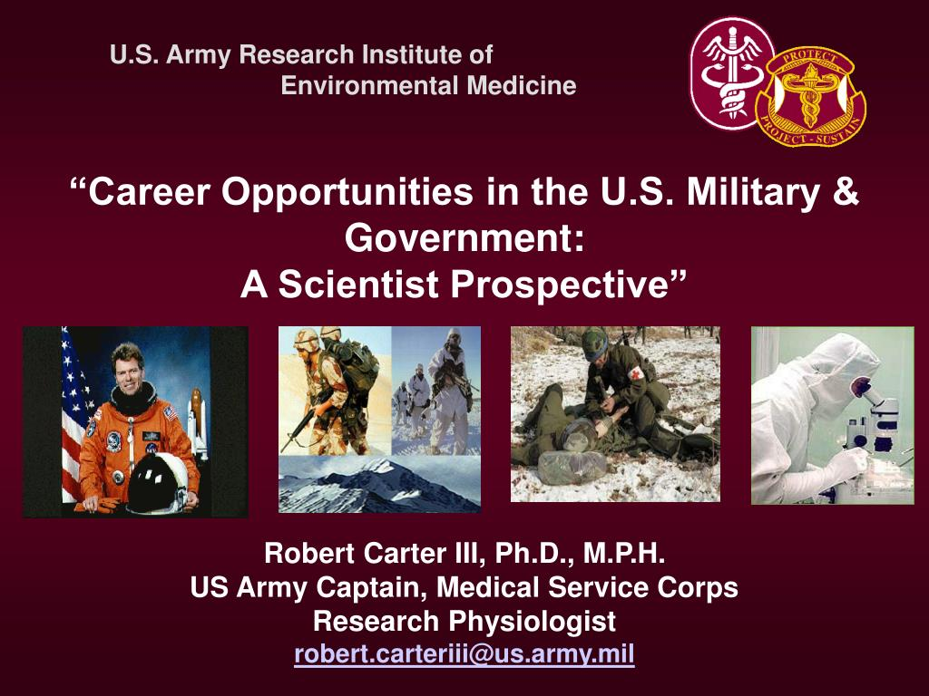 """Career Opportunities in the U.S. Military &"