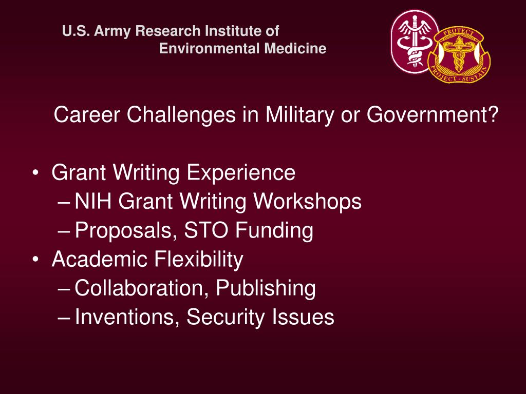 Career Challenges in Military or Government?