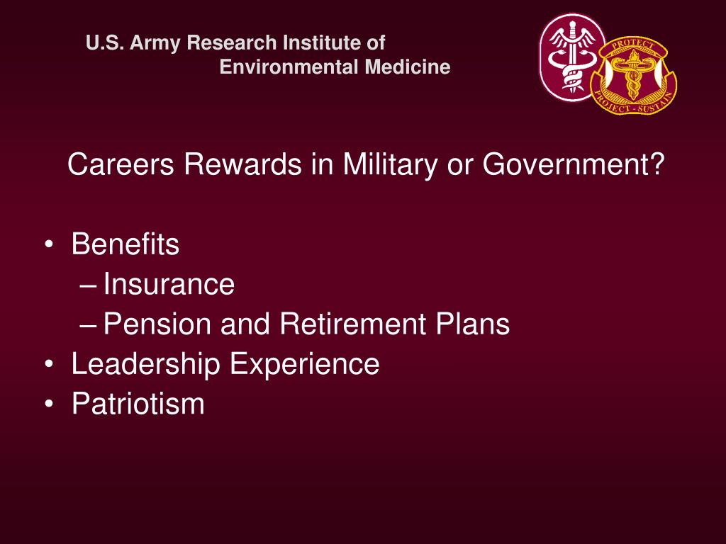 Careers Rewards in Military or Government?