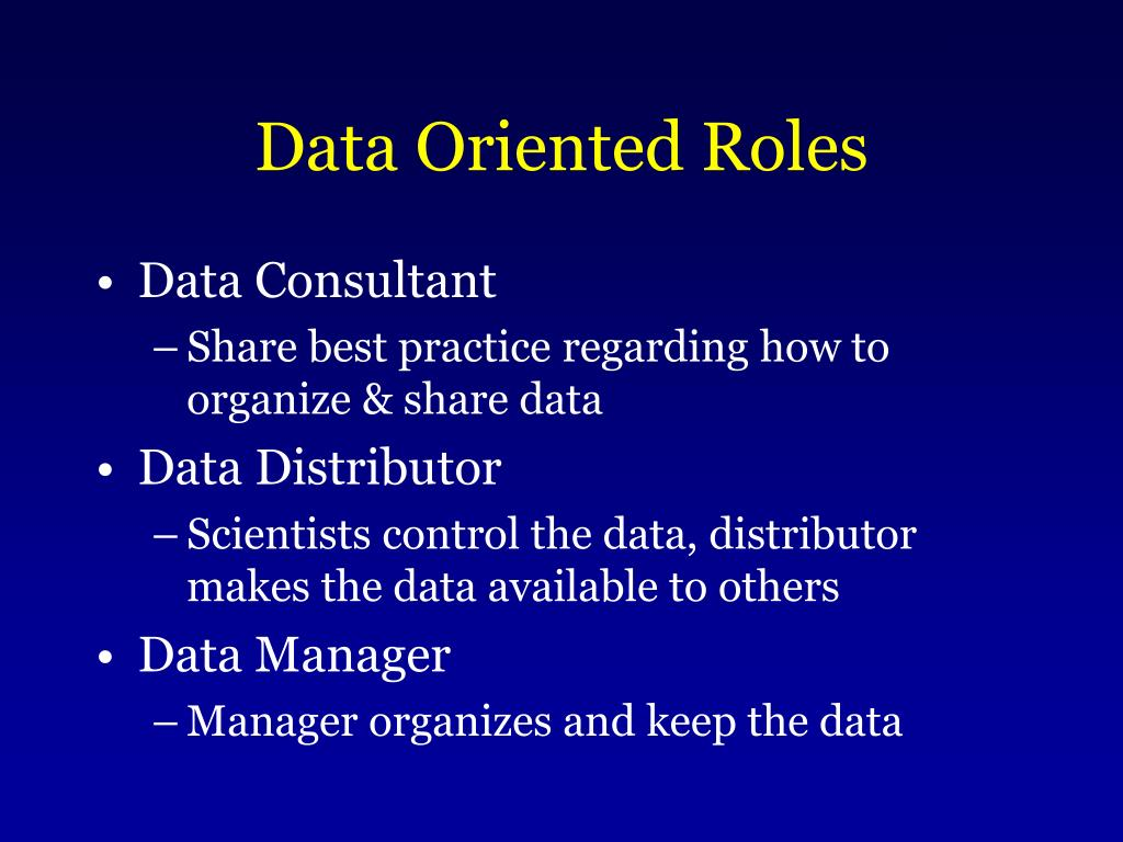 Data Oriented Roles