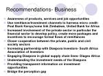recommendations business