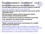 recommendations government 1 of 2