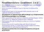 recommendations government 2 of 2