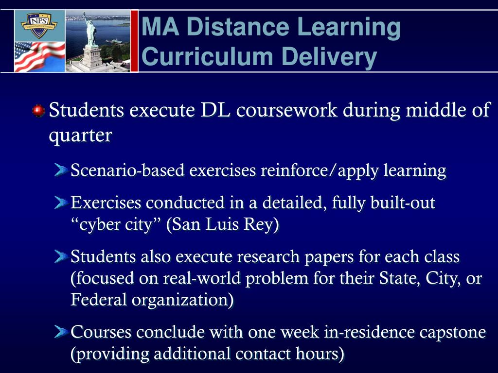 MA Distance Learning