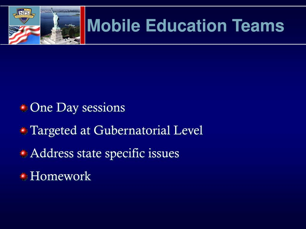 Mobile Education Teams