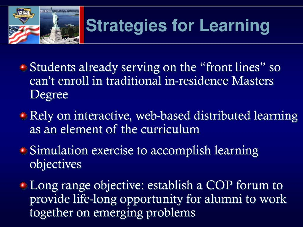 Strategies for Learning