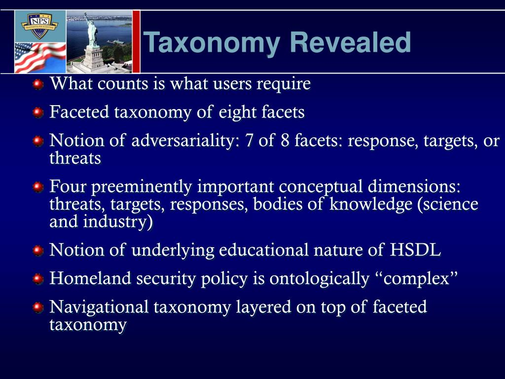 Taxonomy Revealed