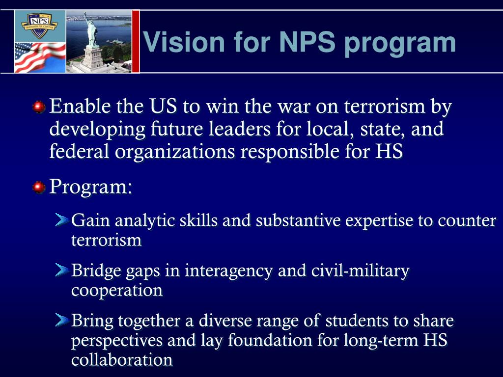 Vision for NPS program