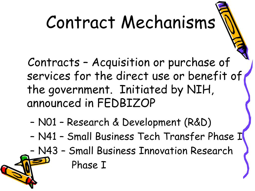 Contract Mechanisms