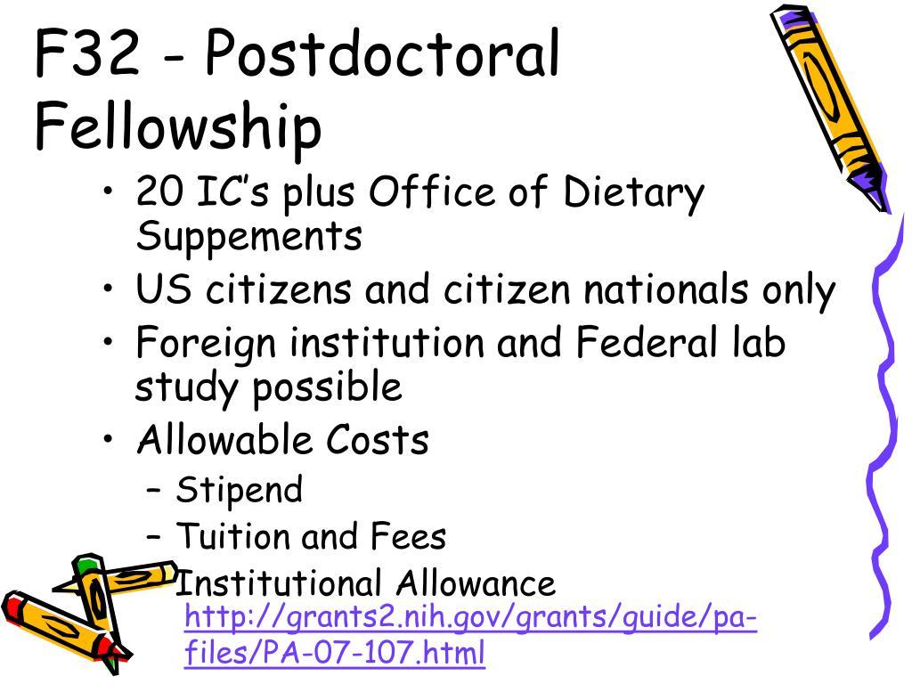 F32 - Postdoctoral Fellowship