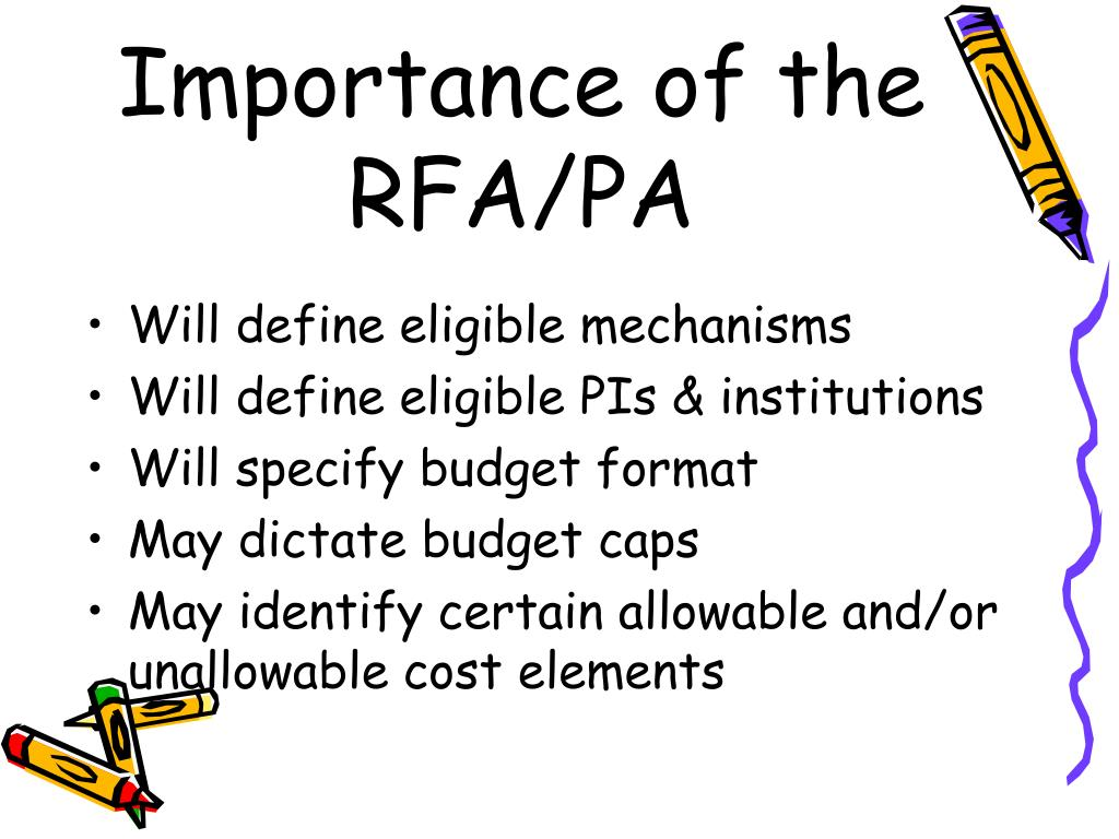 Importance of the RFA/PA