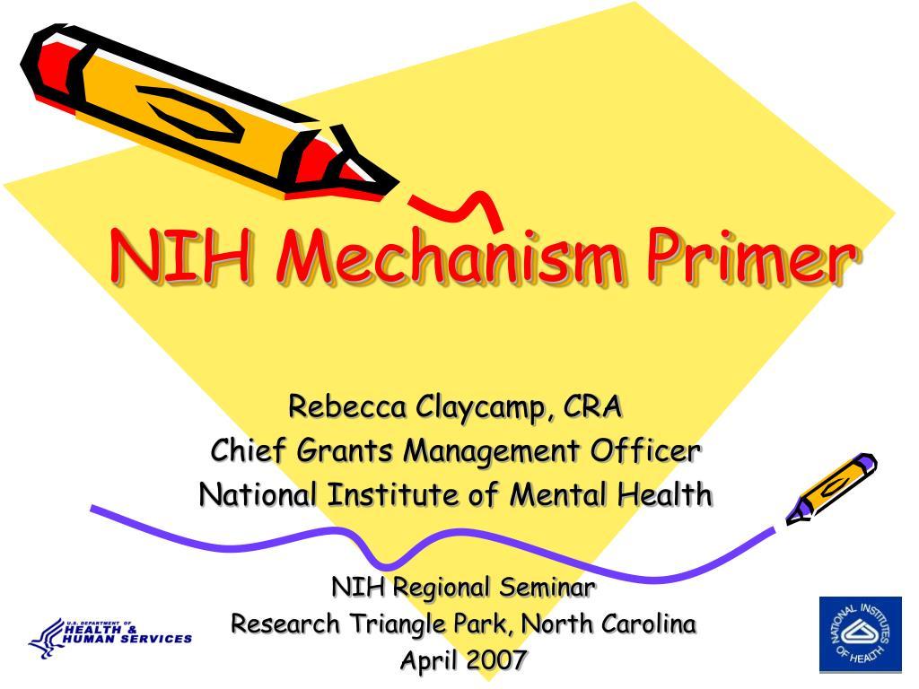 NIH Mechanism Primer